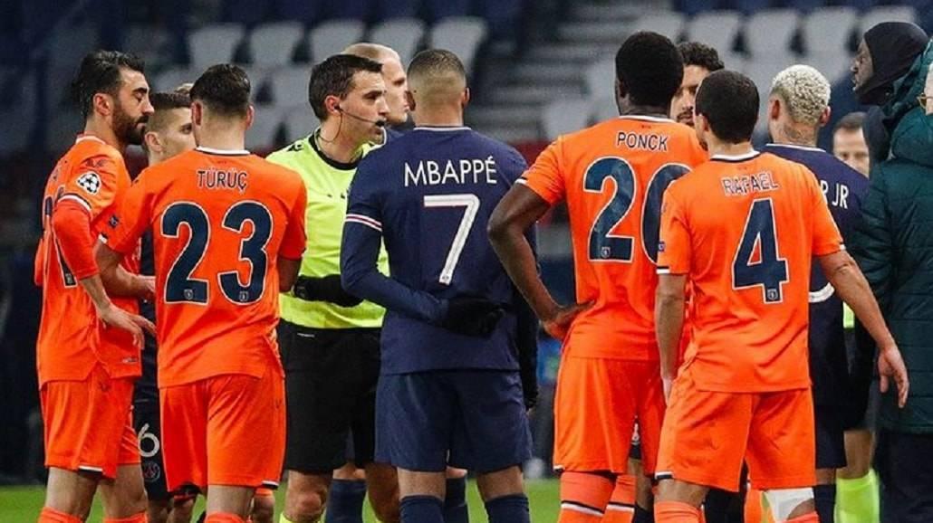Liga mistrzÃłw - incdent tasistowski PSG - Istanbul BB