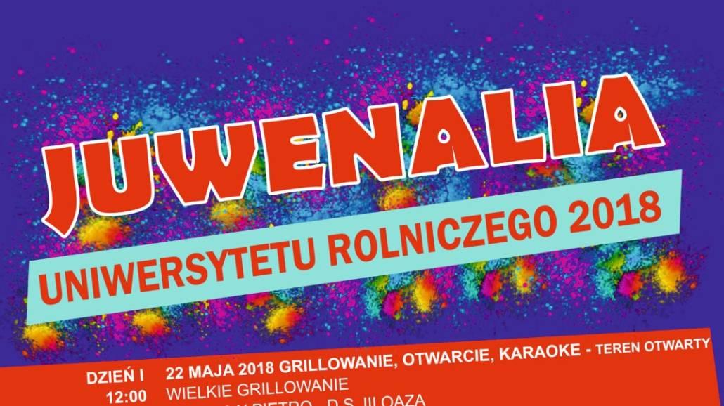 Juwenalia UR odbÄ™dÄ… siÄ™ w dniach 22-25 maja.