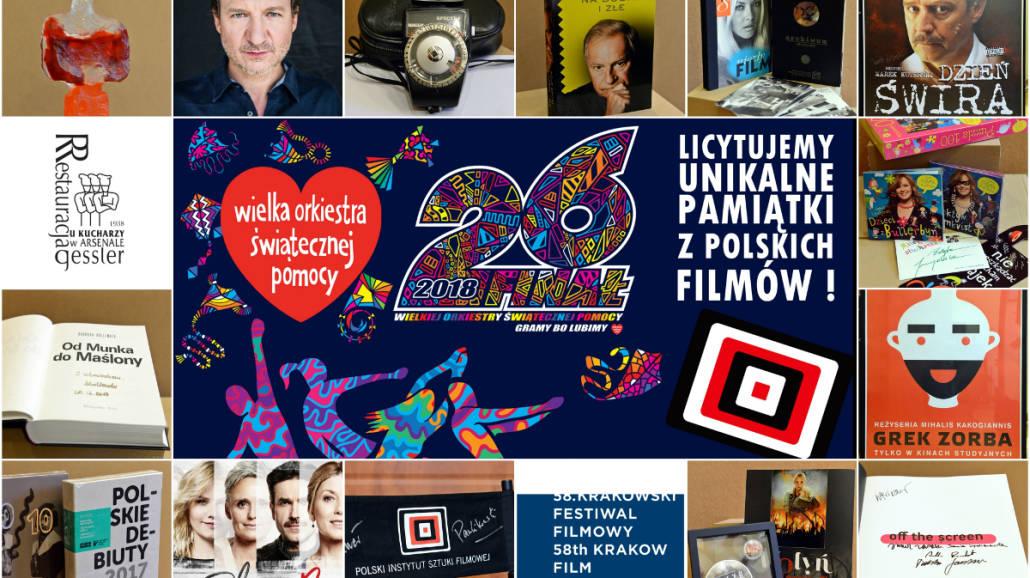 filmowe aukcje WOŚP 2018